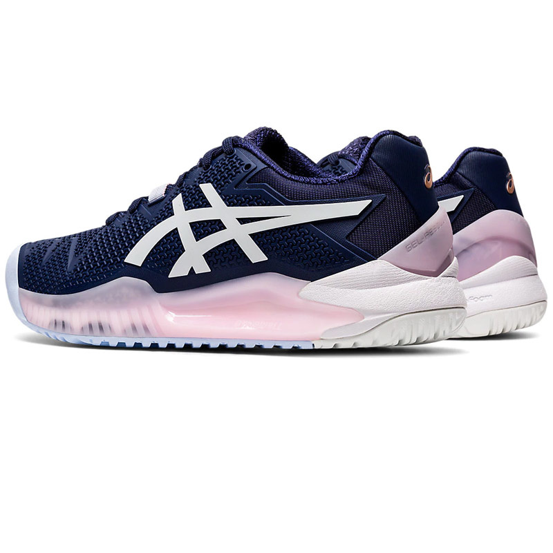 Women's Gel Resolution 8 Tennis Shoes Peacoat NavyWhite