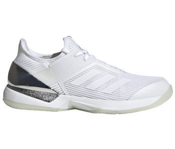 Adidas Women's Adizero Ubersonic 3 Tennis Shoes White/M-Silver