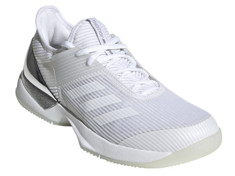 Adidas Women's Adizero Ubersonic 3 Tennis Shoes White/M-Silver