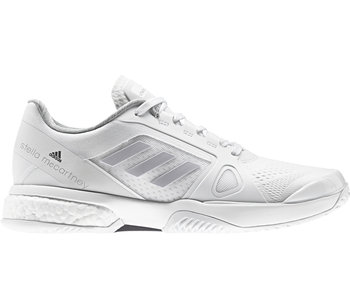 Adidas Women's Stella Court Boost Tennis Shoes White/Grey