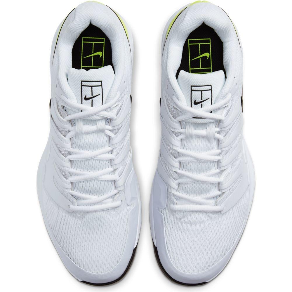 Men's Zoom Vapor X Tennis Shoes White/Black/Volt