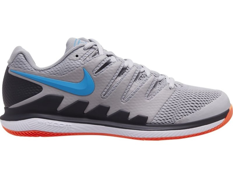 Men's Zoom Vapor X Tennis Shoes Grey/Blue