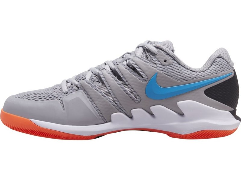 Nike Men's Zoom Vapor X Tennis Shoes Grey/Blue