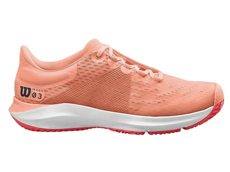 Wilson Kaos 3.0 Women's Tennis Shoes Peach/White