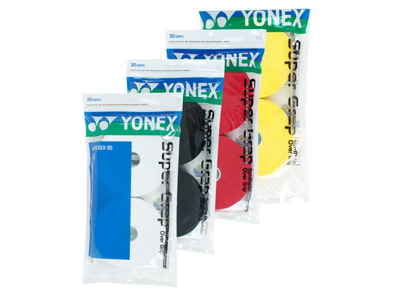 Yonex Super Grap Overgrip 30 Pack Colors