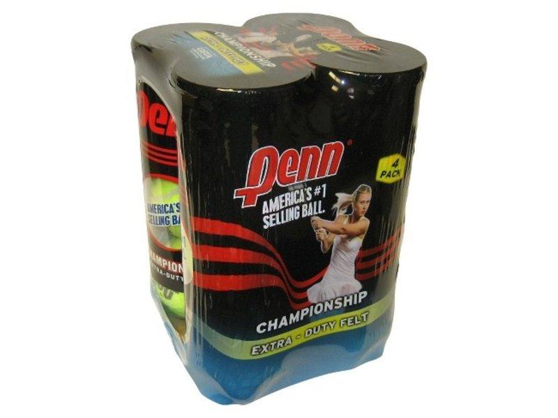 Penn Championship Extra Duty 4 Pack Tennis Balls