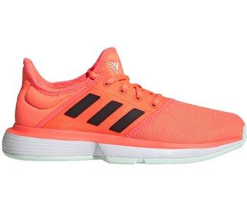 Adidas SoleCourt Junior Tennis Shoes Coral/Black