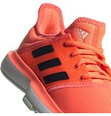 Adidas SoleCourt Junior Tennis Shoes Coral/Black