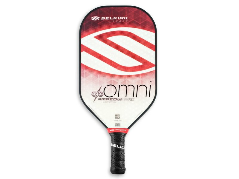 Selkirk AMPED Omni X5 FiberFlex Lightweight Paddle Ruby Red