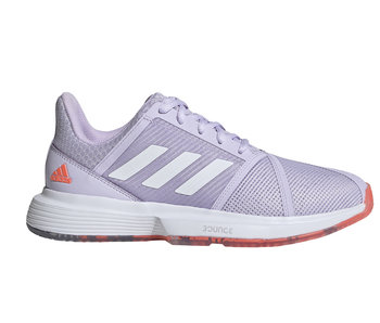 Adidas CourtJam Bounce Signal Coral/Purple Tint Women's Tennis Shoes
