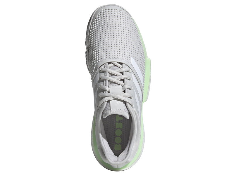 Adidas SoleCourt Boost White/Grey/Green Women's Shoe