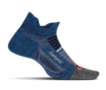 Feetures Elite Light Cushion No Show Tennis Socks Nebula Navy Large