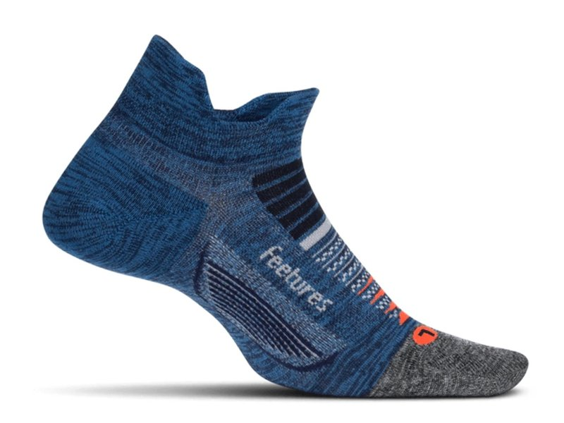 Feetures Elite Light Cushion No Show Tennis Socks Nebula Navy Large