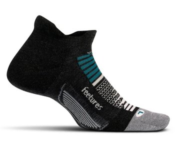 Feetures Feetures Elite Max Cushion No-Show Tennis Socks Asteroid Gray Large
