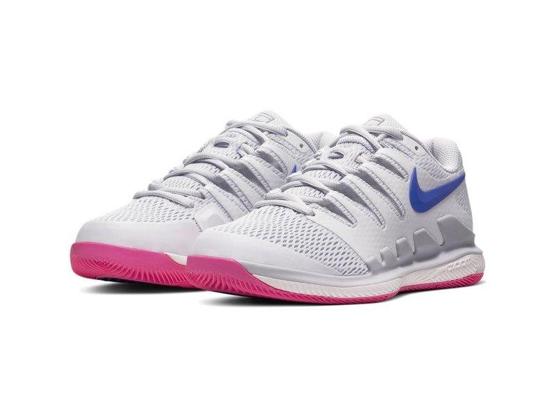 Nike Women's Zoom Vapor X Tennis Shoes Pure Platinum/Racer Blue
