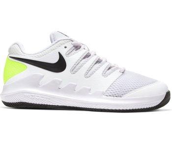 Nike Junior Vapor X Tennis Shoes White/Volt