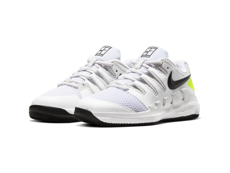 Nike Junior Vapor X Tennis Shoes White/Volt