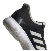 Adidas Adizero Club K Junior Kids Tennis Shoes Black/White/Grey