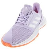 Adidas CourtJam xJ Junior Tennis Shoes Kids Purple/White/Coral
