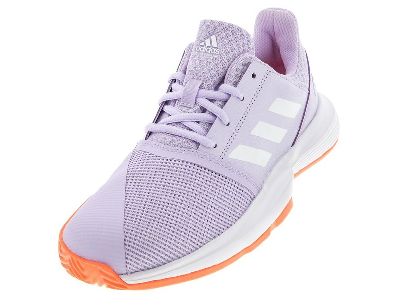 Adidas CourtJam xJ Junior Tennis Shoes Kids Purple/White/Coral