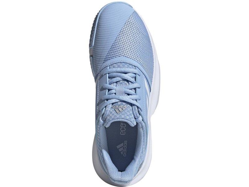 Adidas CourtJam xJ Junior Tennis Shoes Kids Glow Blue/White