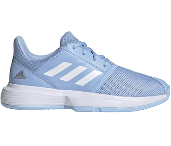 Adidas CourtJam xJ Junior Tennis Shoes Kids Glow Blue/White