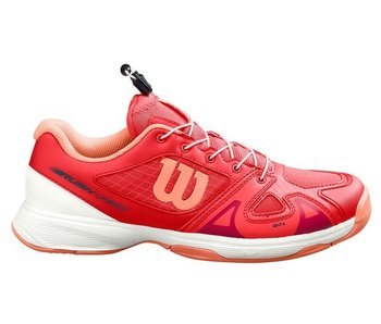 Wilson Rush Pro Jr QL Junior Kids Tennis Shoes Red/White