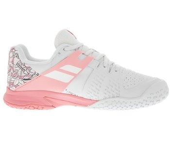 Babolat Propulse Junior Kids Tennis Shoes White/Pink