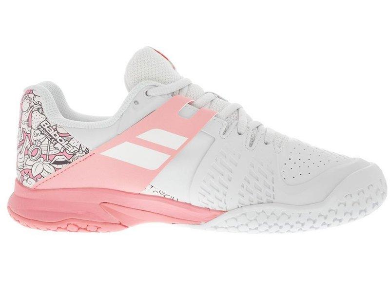Babolat Propulse Junior Kids Tennis Shoes White/Pink