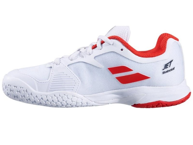 Babolat Jet AC Junior Tennis Shoes White/Red