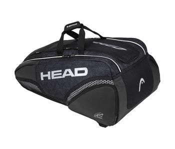 Head Djokovic 12 Pack Tennis Bag Monster Combi black/silver