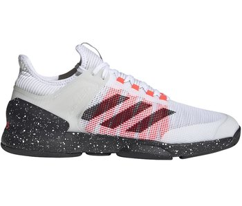 Adidas Adizero Ubersonic 2 Men's Tennis Shoes Wht/Blk/Pink