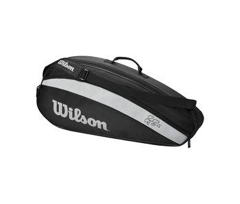 Wilson Fed Team Black/White 3-Pack Tennis Bag