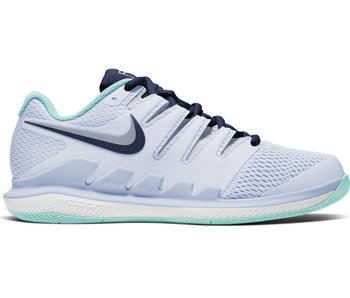 Nike Women's Nike Air Zoom Vapor X Grey/Navy Tennis Shoes