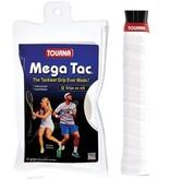 Tourna Mega Tac Overgrips White 10 Pack