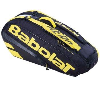 Babolat Pure Aero Racket Holder x6  Tennis Bag Black/Yellow