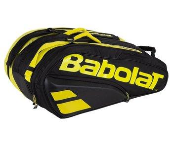 Babolat Pure Aero Racket Holder x12  Tennis Bag Black/Yellow