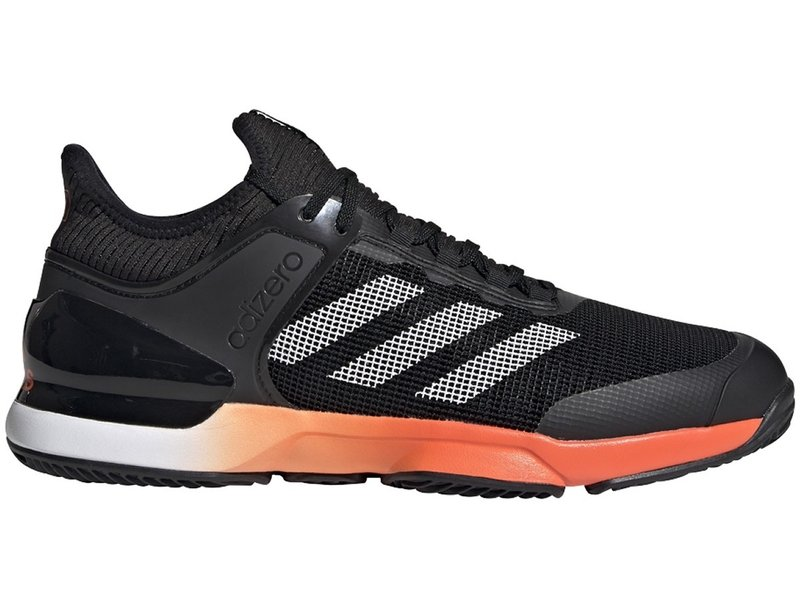 Adidas Adizero Ubersonic 2 Men's Tennis Shoes Clay Black/Orange