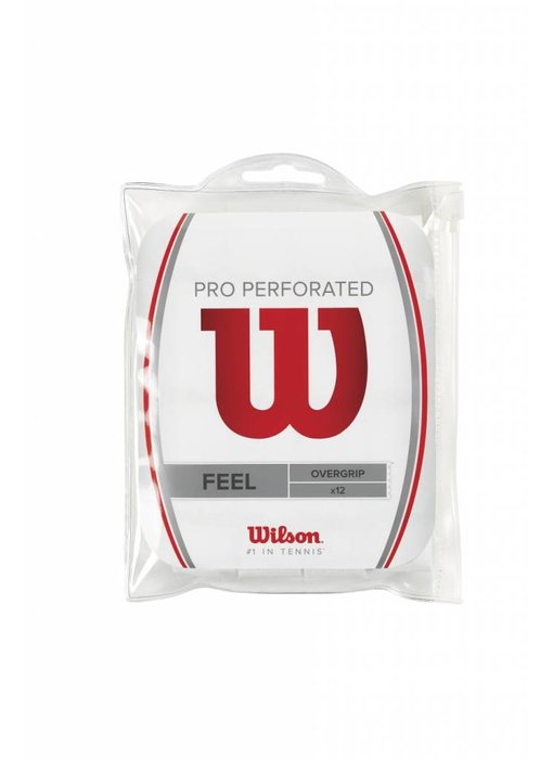Wilson Pro Overgrip Perforated 12pk White