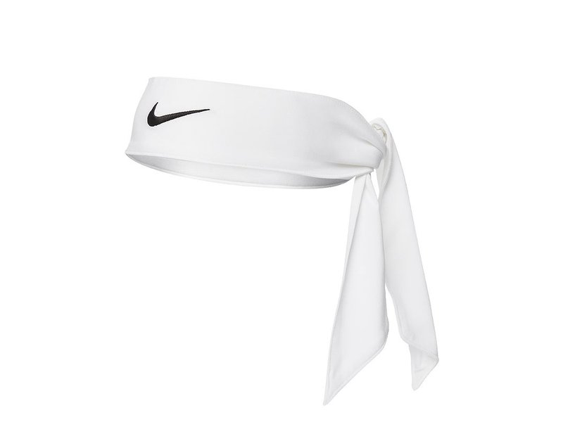 Nike Dry Head Tie White Tennis Headband