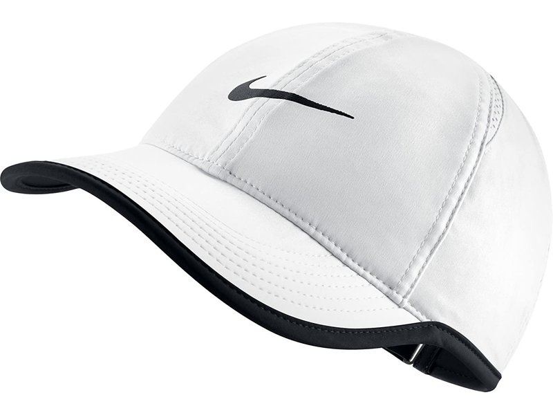 Nike Aerobill Featherlight Unisex Tennis Hat White/Black
