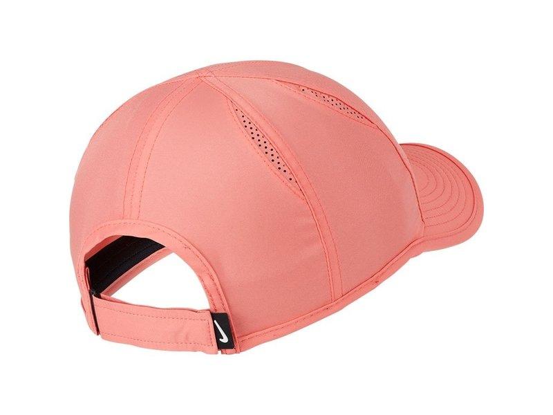 Nike Women's Aerobill Featherlight Tennis Hat Sunblush