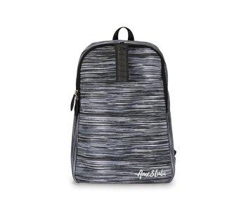 Ame & Lulu Black Grunge Drop Shot Pickleball Backpack