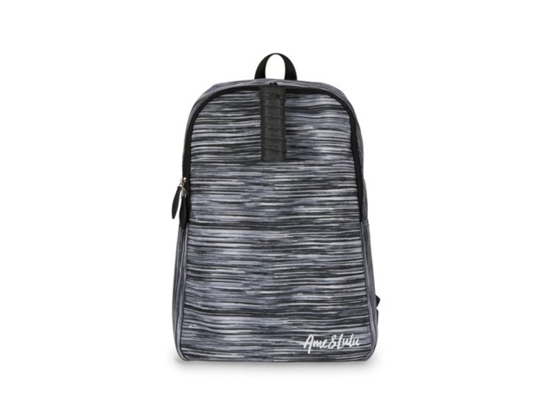 Ame & Lulu Drop Shot Pickleball Backpack Black Grunge