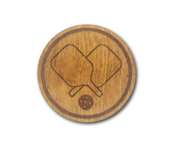 Racquet Inc Premium Wood Drink Coasters (6 Pack) Pickleball