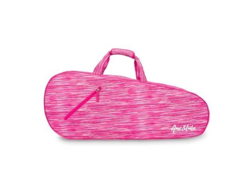 Ame & Lulu Pink Grunge 3 Racquet Bag