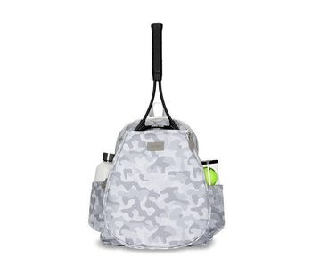 Ame & Lulu Grey Camo Game On Tennis Backpack