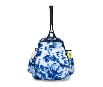 Ame & Lulu Game On Tennis Backpack Navy Tie-Dye