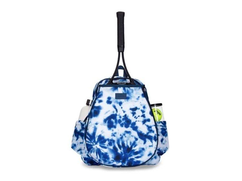 Ame & Lulu Game On Tennis Backpack Navy Tie-Dye