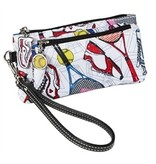 Sydney Love Tennis Everyone Double Zip Wristlet